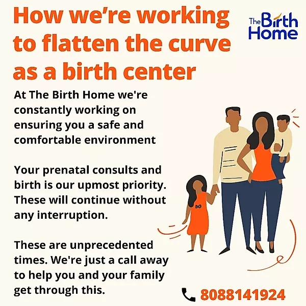 Flattening the curve as a birth center